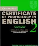 Cambridge CPE certificate of proficiency in english 2