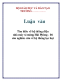 Lun vn: Tm hiu v h thng in nh my xi mng Hi Phng - i su nghin cu v h thng lc bi